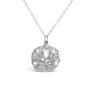 Jewelry - Sterling silver sand dollar and pearl necklace